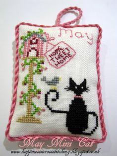 Freebie Gallery: May Mini Black Cat cross Stitch