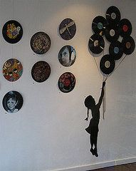 Vinyl records decoration