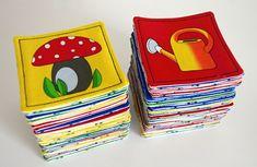 zuzkasim: Fotonávod na látkové pexeso Little Ones, Coasters, Lunch Box, Book, Coaster, Bento Box, Book Illustrations, Books, Toddlers