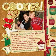 cute holiday baking page