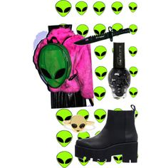 """Alien"" by milliepalmer on Polyvore"
