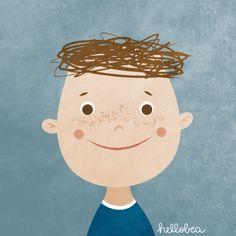 hellobea: rainbow #kids: the #italian #boy #illustration #childrensillustration
