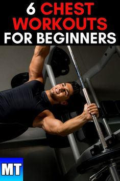 6 Chest Workouts - Best Chest Exercises for Beginners at the Gym Chest Workout for Men at the gym for upper chest, middle chest, and lower chest. Chest workouts for beginners at the gym Lower Chest Workout, Chest Workout For Men, Gym Workouts For Men, Workout Routine For Men, Chest Workouts, Workout For Beginners, Chest Exercises, Bike Workouts, Men Exercise