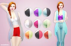 Top separated from a Get Together outfit at Simlife – mysimlifefou via Sims 4 Updates Sims 4 Get Together, Sims 4 Teen, Sims 4 Mm Cc, Sims 4 Cas, Sims 4 Clothing, Sims 4 Cc Finds, Sims 4 Update, Teen Hairstyles, Sims 4 Custom Content