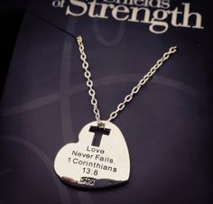 7d2c254fe Christian Necklaces, Crosses and Jewelry. I Love My Hubby1 Corinthians 13Love  Never FailsI Love HeartReligious ...