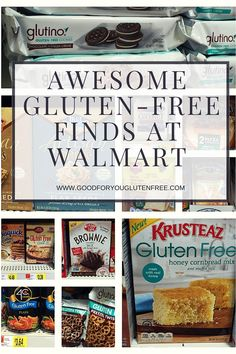 Check out these awesome Gluten-Free Finds at Walmart!Check out these awesome Gluten-Free Finds at Walmart!Check out these awesome Gluten-Free Finds at Walmart! Gluten Free Shopping List, Gluten Free Food List, Dairy Free Snacks, Lactose Free Diet, Lactose Free Recipes, Wheat Free Recipes, Gluten Free Brands, Gluten Free Products, Gluten Free Chips