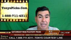 MLB Picks Predictions Betting Odds Preview Saturday 10-15-2016