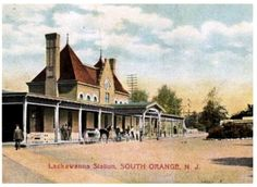 SOUTH ORANGE, New Jersey, USA - LACKAWANA Raiload station pc  - Gothic Revival Style architecture  OL