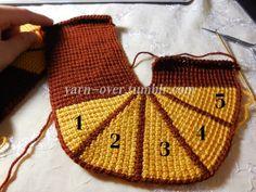 Tunisian Crochet Slippers - Pattern/Photo Tutorial by Yarn-Over Crochet Slipper Pattern, Crochet Shoes, Crochet Motif, Crochet Yarn, Crochet Stitches, Crochet Patterns, Knitted Booties, Knitted Slippers, Minecraft Pixel Art