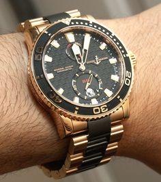 Ulysse Nardin Maxi Marine Diver Gold Ceramic Watch Review