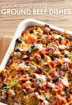 You'll be serving dinner in no time with these quick and easy ground beef dishes.