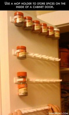 Kitchen spice organization idea