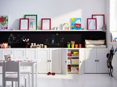 ikea - love the cupboards all the way down one wall idea.