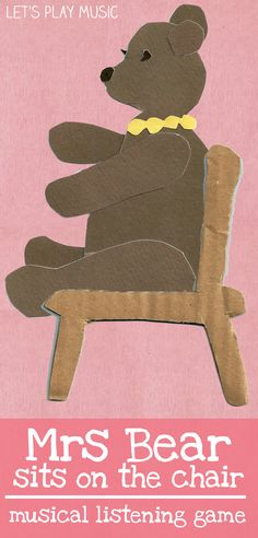 Mrs bear sit s on the chair - rhythm and listening game from Let's Play Music - Pre-Prep Listening Game
