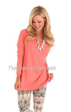 Coral Piko Top modest top, Trendy Clothing, Trendy Tops, Trendy Shirts, Popular Clothing, modest, modest dresses, modest dress, church dress...