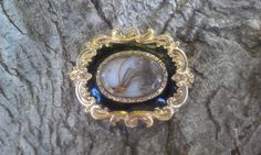 Victorian Mourning Brooch with Lock of Hair by InRareFormVintage, $145.00