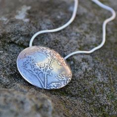 Silver COw Parsley Necklace