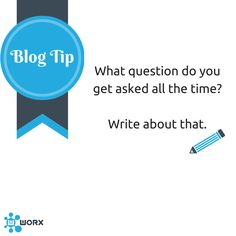 The answer to the question: What should I blog about?