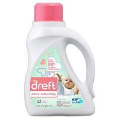 Laundry Detergent > Dreft Stage 2: Active Baby 50 oz. HEC Liquid Detergent $12.99 buybuyBaby