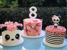 Panda Birthday Cake, Birthday Cake Girls, Baby Birthday, Panda Party, Bolo Panda, Panda Baby Showers, Panda Cakes, Petit Cake, 10th Birthday Parties