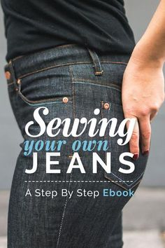 Classic 5-pocket jeans sewing pattern with a modern and flattering cut designed for stretch denim. Features universally flatting mid rise with choice of stovepipe or skinny leg.