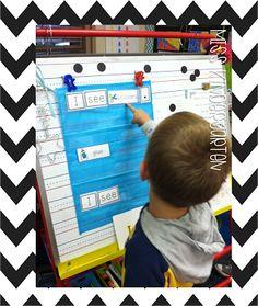 Building sentences with sight words.   Miss Kindergarten: Literacy Center Ideas!