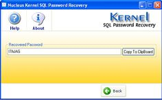 Select the user name for which password is to be recovered.