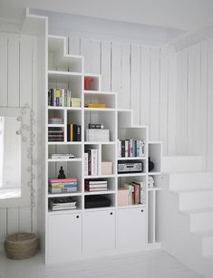 Small Spaces Under Stair Shelving