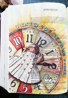 Jeremiah 1:5 The Original Bible Art Journaling Challenge 15 http://www.rebekahrjones.com/bible-art-journaling-challenge/the-original-bible-art-journaling-challenge/