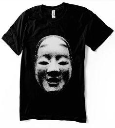 Japanese shirt Noh Mask tshirt  Ko-omote Mask  kabuki by nietoair