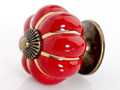 Your place to buy and sell all things handmade Glass Drawer Knobs, Dresser Knobs, Ceramic Knobs, Door Knobs, Red Kitchen Cabinets, Kitchen Cabinet Knobs, Cupboard Drawers, Knobs And Pulls, Drawer Pulls