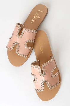 Add the Lulus Saxon Nude and Gold Slide Sandals to your ever-growing sandal collection for a touch of flair and style! Cute sandals with a wide vamp strap. Dressy Sandals, Cute Sandals, Slide Sandals, Summer Sandals, Beach Sandals, Thing 1, Cute Boots, Boot Shop, Fashion Shoes