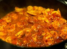 My favorite main dish in Italian cuisine (great NY pizza is a whole 'nother thing) is shrimp or seafood fra diavolo, extra spicy. Looking for an image, I was amazed to see how blah-looking some photos are. It's seafood of the devil, for heaven's sake:) This one has the color and consistency right. Just remember the linguini al dente.