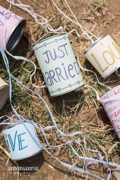 Dosen Auto Hochzeit Wedding-Cans