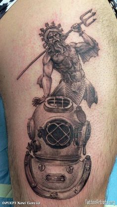 Helmet Tattoo – Grey Ink Scuba And Diving Design Tattooshuntercom Navy Seal Tattoos, Marine Tattoos, Scuba Diving Tattoo, Poseidon Tattoo, Helmet Tattoo, Diver Tattoo, Sea Life Tattoos, Sailor Tattoos, Diving Helmet