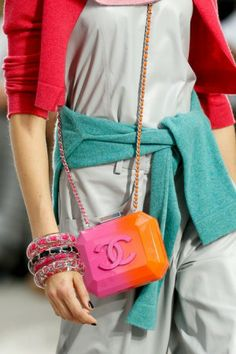 Chanel Plexi Orange and Red Bag  Spring 2014