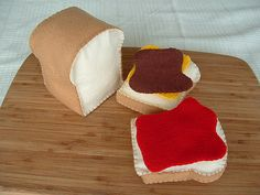 Felt Food - Loaf of Bread with Spreads   Flickr - Photo Sharing!