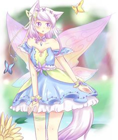 For AtheraAsyra 's OC contest ^^ I picked the theme fairy and I had a lot of fun coloring this, with all the pastel colors and such! I hope you guys like it~ This is also like my 3rd dr...