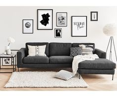 "Ecksofa Cucita, Eckteil rechts in Dunkelgrau >> WestwingNow > WestwingNow""> Corner sofa Cucita, corner piece right in dark gray >> WestwingNow Living Room Grey, Living Room Sofa, Home Living Room, Living Room Designs, Dark Grey Sofa Living Room Ideas, Charcoal Sofa Living Room, Living Room Decor Ikea, Dining Room, Corner Couch"