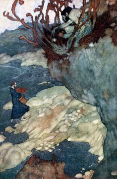 'Shakespeare's Comedy of the Tempest' with illustrations by Edmund Dulac. Published 1915 by  Hodder & Stoughton, London