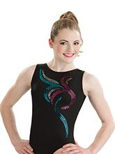 Midnight Sparkle Workout Leotard  from GK Gymnastics