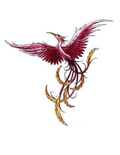 Flying Bird Phoenix Tattoo Design