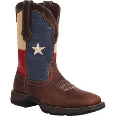 Lady Rebel by Durango - Women's Texas Flag Pull-On Western Boots - Style #RD3446 - Durango Boot Company