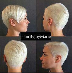 Kort blond met lok