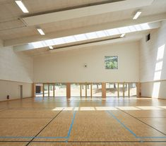 Gallery of Sports Hall in Louviers / Atelier Féret & Frechon Architectes - 18 Image Facebook, Sport Hall, Gallery, Sports, Wood, Atelier, Hs Sports, Roof Rack, Sport