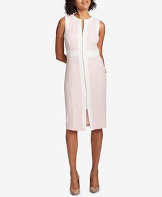I want this for easter Tommy Hilfiger Zip-Front Scuba Dress
