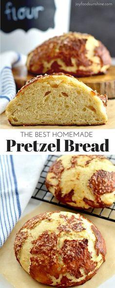 Pretzel Bread Recipes, Easy Bread Recipes, Baking Recipes, Cornbread Recipes, Jiffy Cornbread, Chef Recipes, Pretzel Bagel Recipe, Artisian Bread Recipes, Soup Recipes
