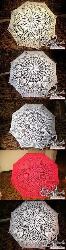 Небольшой МК по вязанию ажурных зонтиков крючком + Моя коллекция зонтиков - Вязание - Страна Мам