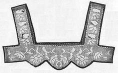 Daisy Yoke in Filet Crochet with Ribbon Weave Straps || Star Yoke Book, Book No. 1, 1921 || Courtesy of About.com Crochet || #freepattern