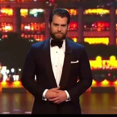 Henry presenting at the Laureus World Sports Awards.